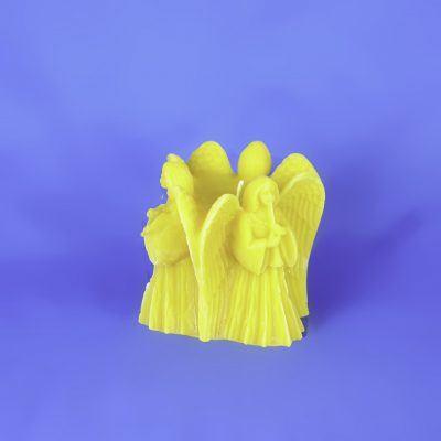 Beeswax Three Angel Large Pillar Candle