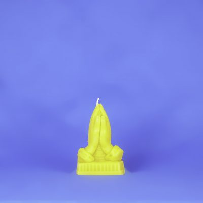 Beeswax Praying Hands Candle