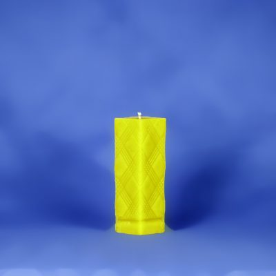 Beeswax Textured Pillar Candle