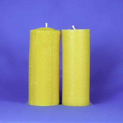 "Beeswax 3"" x 8"" Smooth Pillar Candle"