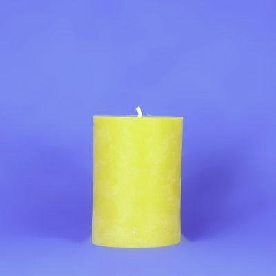 "Beeswax 4"" x 6"" Smooth Pillar Candle"