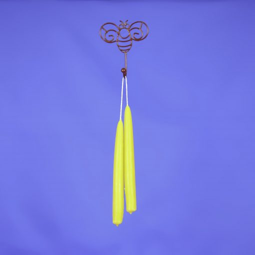 "Beeswax 8"" Hand Dipped Taper Candle Pair"