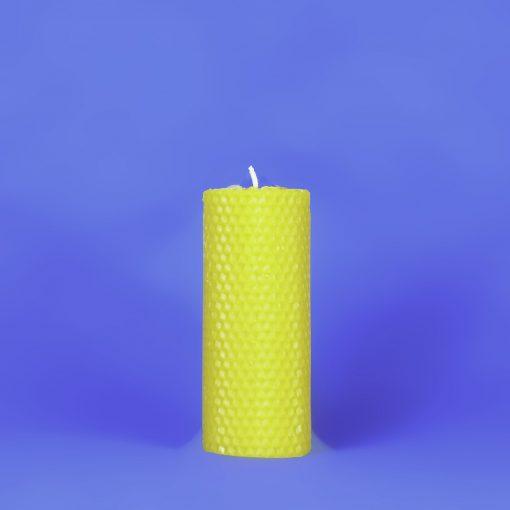 "Beeswax Solid 2"" x 5"" Honeycomb Pillar Candle"