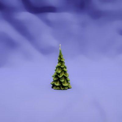 Beeswax Pine Tree Candle
