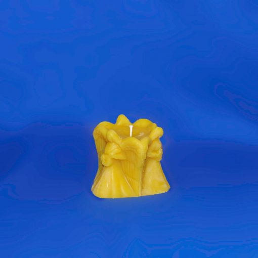 Beeswax Three Angel Small Pillar Candle