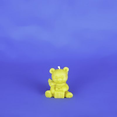 Beeswax Bear Candle with Present