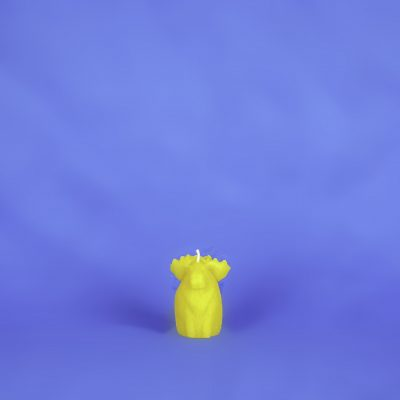 Beeswax Moose Candle