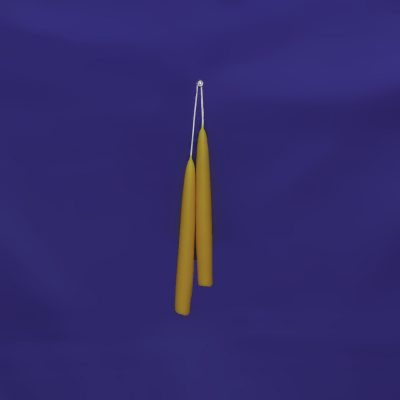 "Beeswax 6"" Hand Dipped Taper Candle Pair"