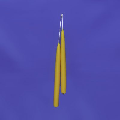 "Beeswax 10"" Hand Dipped Taper Candle Pair"