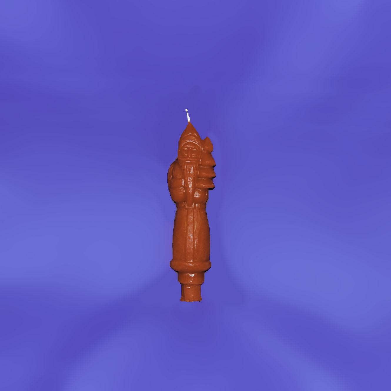 Tall Santa beeswax ornamental candle